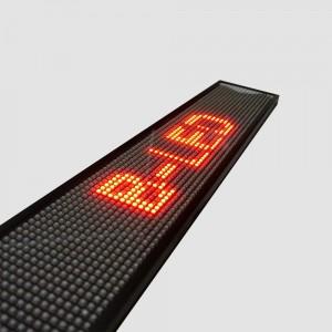 LETRERO LED PROGRAMABLE MONOCOLOR ROJO 50X9,5CM WIFI / USB