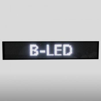 LETRERO LED PROGRAMABLE MONOCOLOR BLANCO 50X9,5CM WIFI / USB