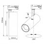 Focos LED de carril monofásico 15W CCTSystem