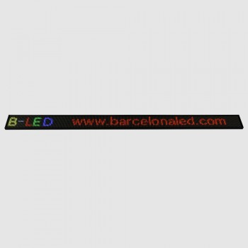 LETRERO LED PROGRAMABLE RGB 1300X95 MM WIFI / USB