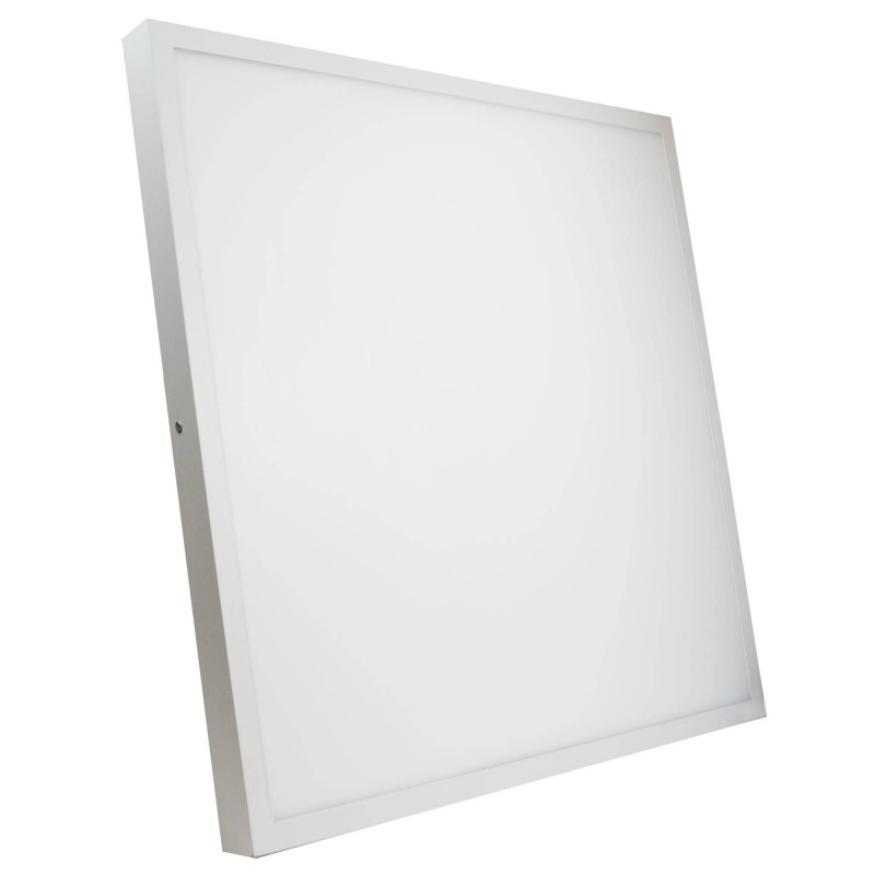 Panel LED 60x60cm de superficie marco blanco