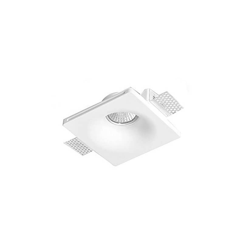 Aro downlight empotrable cuadrado de Escayola GU10 trimless