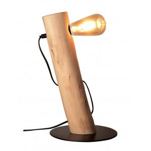Lámpara de mesa de madera E27