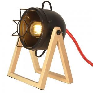 Lámpara de mesa de madera...