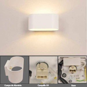 Caja de 40 Downlight LED extraplano circular 6W
