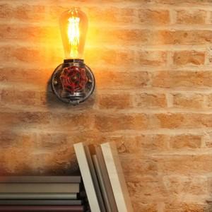 Aplique de pared vintage tubería E27