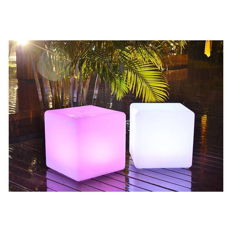 Cubo led RGBW recargable