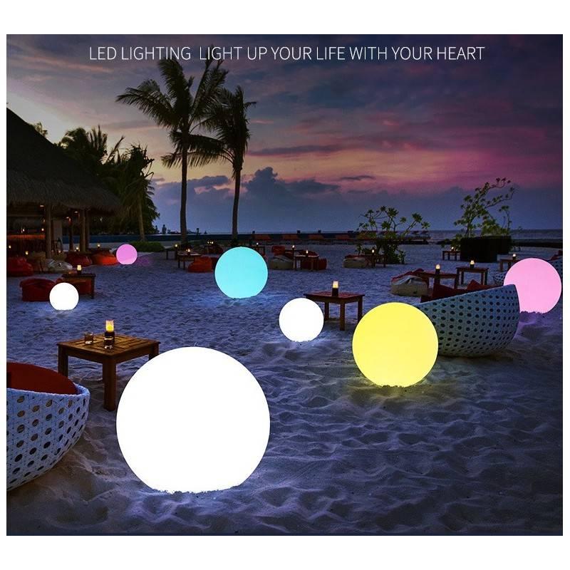 Esfera luminosa recargable 60 cm RGB