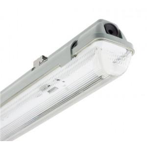 Pantalla estanca IP65 para un tubo LED 120cm con conexión a 1 lado