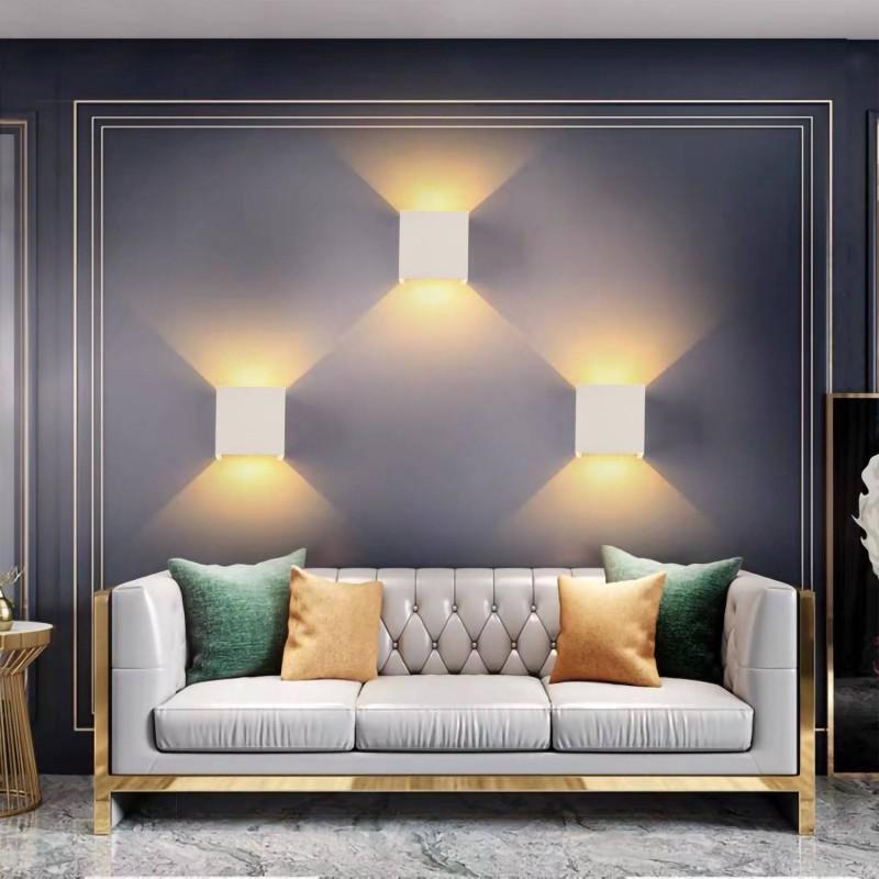 Panel LED 60x60cm de superficie marco blanco