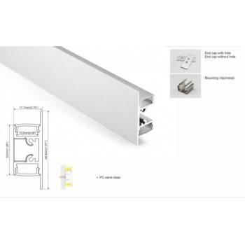 perfil de aluminio superficie bañador