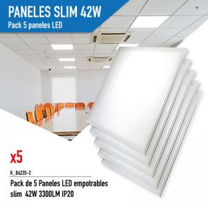 Pack de 5 Paneles LED...