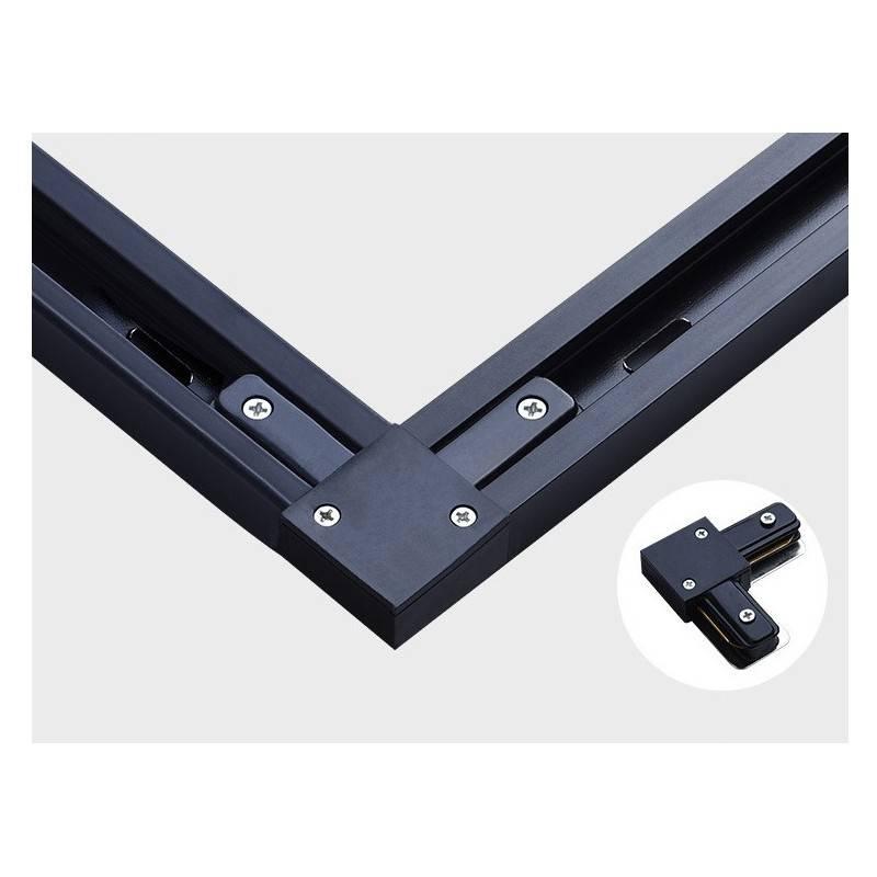 KIT Perfil de aluminio de superficie 19X19mm 45º con difusor glaseado + tapone + grapas