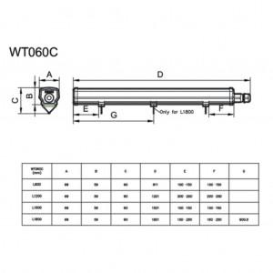 KIT Perfil de Aluminio 23x8 para Empotrar de 2mt + Difusor + Tapones