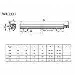 KIT Perfil de aluminio para empotrar 23X8mm con difusor opal + tapones