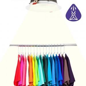 iluminación para tiendas de ropa