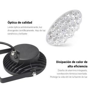 Proyector LED de jardín con pincho 15W RGB+CCT control RF/WiFi  | Mi Light | FUTC03