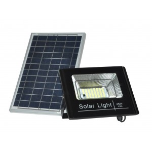 Proyector LED solar 25W con mando