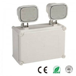 Luz de Emergencia LED Industrial Doble 2x6W IP65