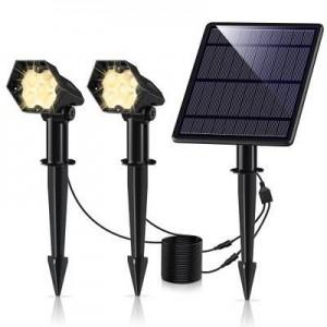 Foco Solar Exterior Doble 3W IP65