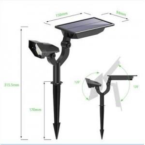Focos LED Solares con sensor 2W