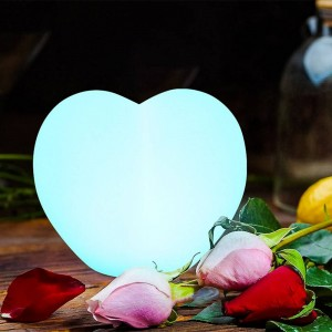 Corazón luminoso LED RGBW Recargable 1W 20cm IP65