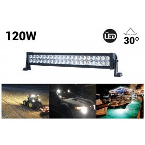 Barra LED 4x4, todoterreno 120W, 8000lm
