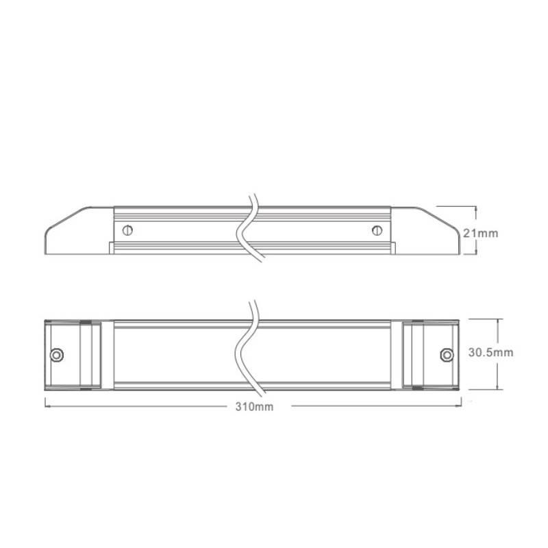 Perfil tira LED de colgar o superficie 20x27mm