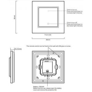 pulsador una tecla regulador monocolor con señal de radiofrecuencia