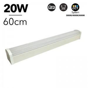 Luminaria lineal LED CCT 20W 60cm con selector de temperatura de color