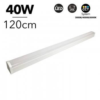 Luminaria lineal LED CCT 40W 120cm