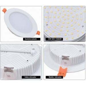 Comprar Plafón placa Downlight LED profesional circular empotrable 25W