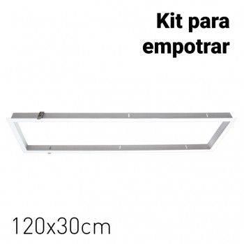 Kit Marco empotrable para Paneles LED 120x30