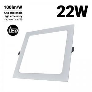 Downlight LED empotrable cuadrado DOB 22W