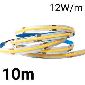 Tira LED COB 24V-DC 12W/m IP20 10mm - Rollo de 10 METROS