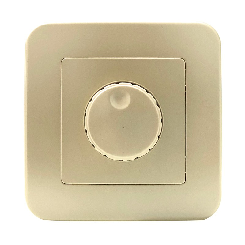 Regulador rotativo 200W 230V empotrable y marco embellecedor