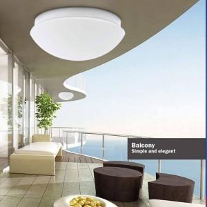 Plafón LED de superficie con sensor para bombilla E27