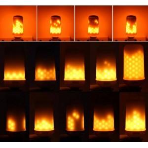Bombilla LED efecto llama de fuego