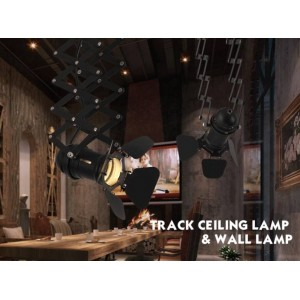 lámpara de techo vintage extensible