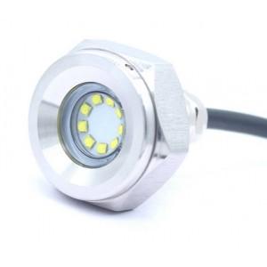 Luz LED RGB empotrable para tapón de drenaje en barcos 27W 12V inox 316L