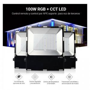 Foco proyector LED RGB+CCT 50W 4200lm - control por RF y WiFi - IP65 FUTT02