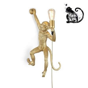 Aplique de pared Mono dorado