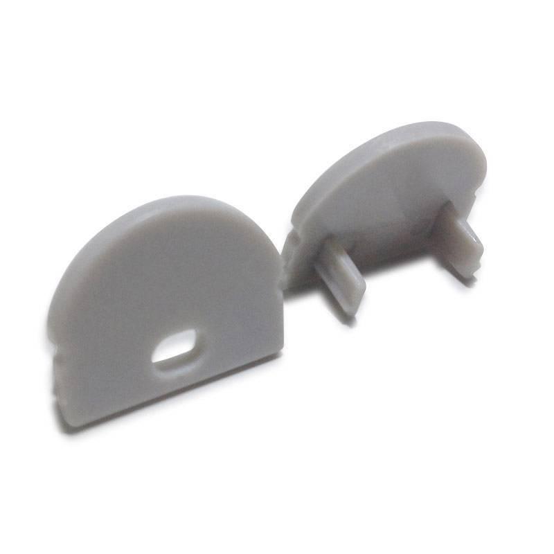 Tapa lateral para perfil 17x8mm con agujero para difusor con óptica 60º (BPERF17X8)