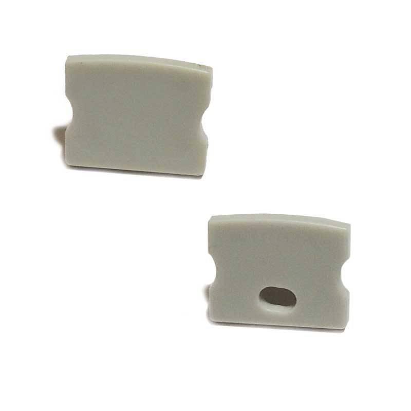 Tapa lateral para perfil 17x15mm con agujero  (BPERF17X15)