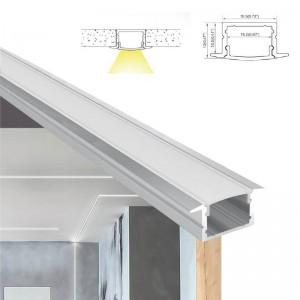 Perfil de aluminio de superficie 18x12mm para tira led 15mm