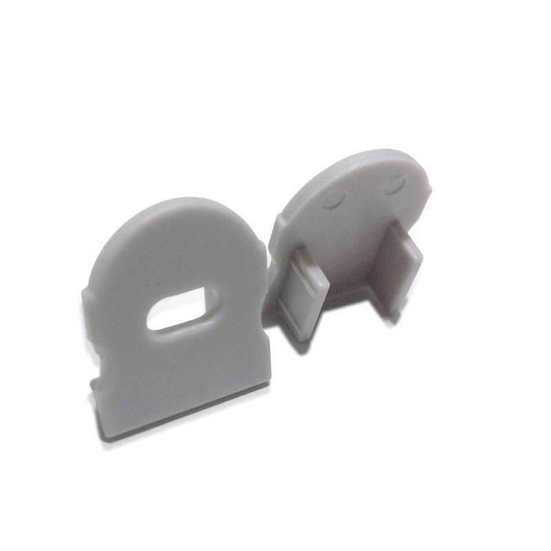Tapa lateral para perfil 17x15mm con agujero para difusor con óptica de 30º