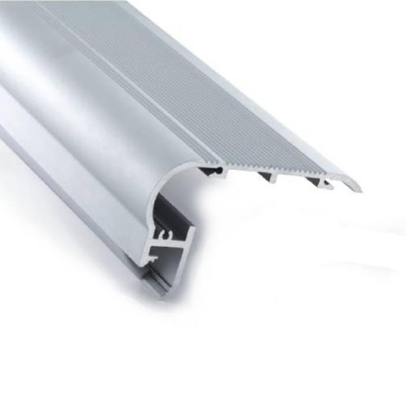 Perfil de Aluminio Empotrable 80x50mm para Paredes y Escalera
