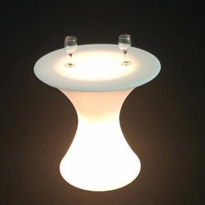 Mesa luminosa LED RGBW Recargable 24W IP67 58x60cm