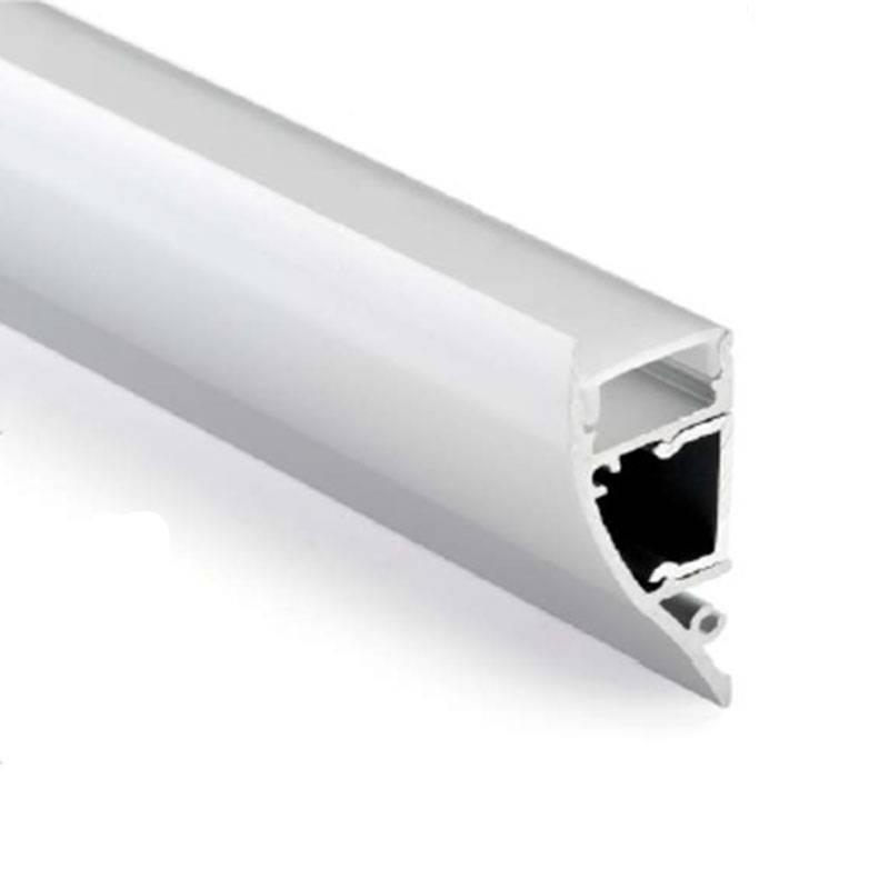 Perfil bañador de pared 18x44 de aluminio