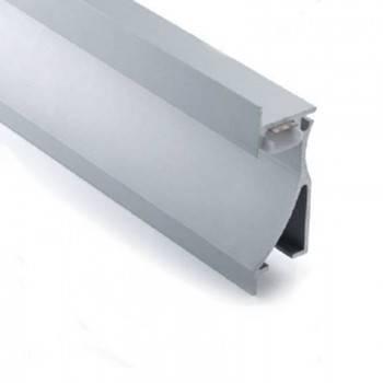 Perfil empotrable tipo bañador de pared 26x78mm (2mt.)